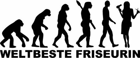 coiffeur: Worlds best Hairdresser Evolution Illustration