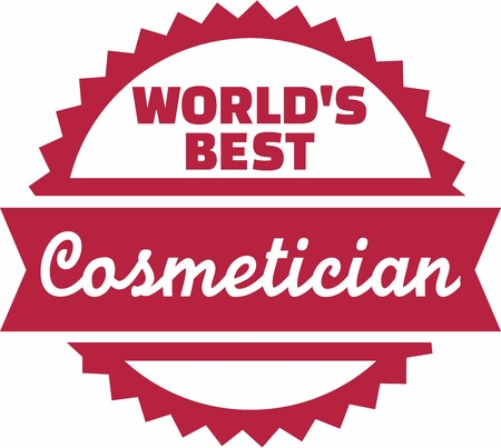 cosmetician: Worlds Best Cosmetician Illustration