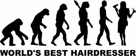 coiffeur: Evolution de mieux Coiffeur monde Illustration