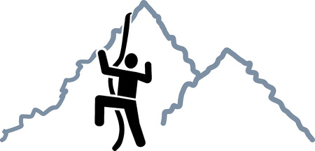 clambering: Climbing on mountains icon