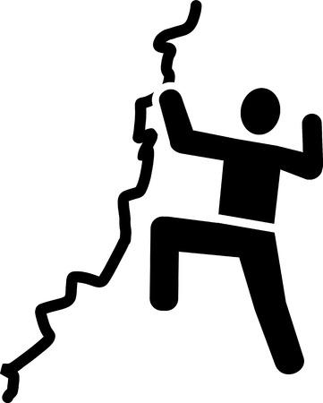clambering: Climbing on rock icon