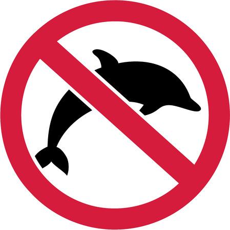 delfin: Delfiny zabronione znak