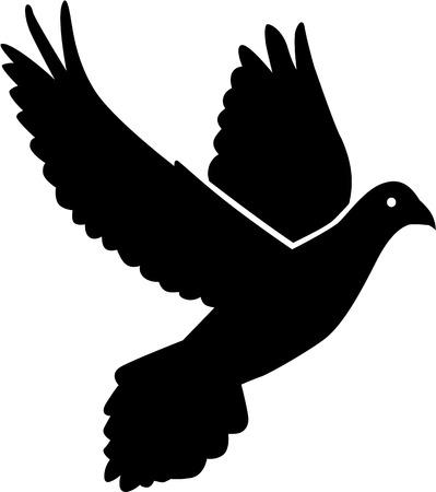 dove in flight: Flying dove icon Illustration