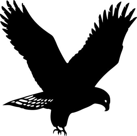 Golden Eagle Silhouette Иллюстрация