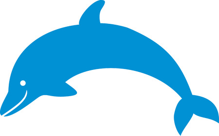 dolphin: Blue simple Dolphin Illustration