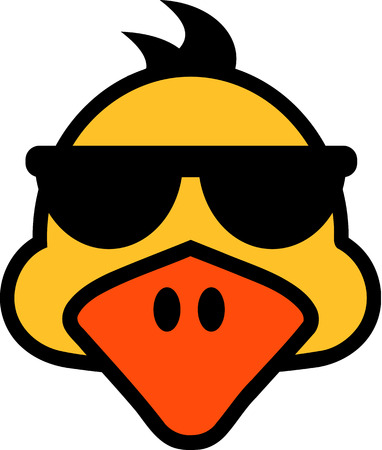 duck silhouette: Duck face with sunglasses
