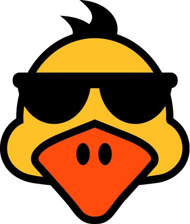 mallard: Duck face with sunglasses