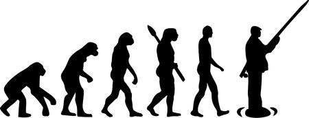 darwin: Evolution of a fishing man Illustration