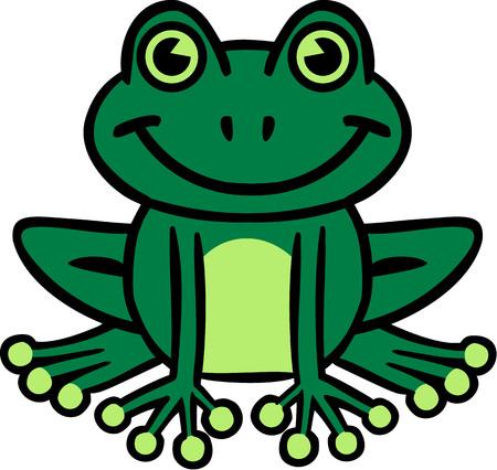 rana caricatura: Sonre�r historieta de la rana