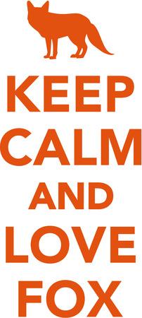 foxy: Keep calm and love fox