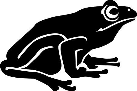 rana: Bienes sapo rana Vectores