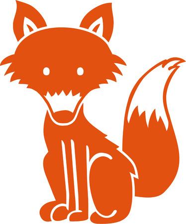 foxy: Cute Fox cartoon