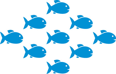 shoal: Fish shoal with nine fishes