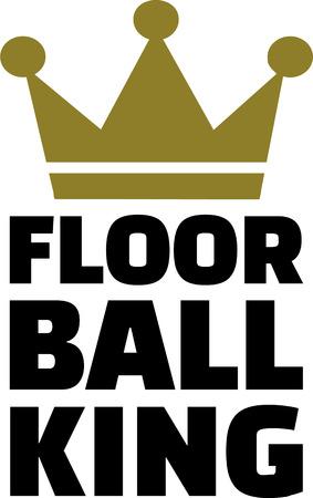 Floorball king Illustration