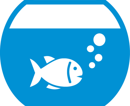 fishbowl: Fishbowl vector with fish and bubbles