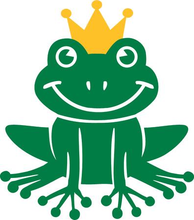 frog cartoon: Frog King