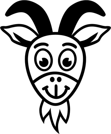 goat head: Goat head cartoon