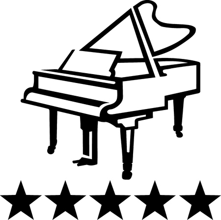 concert grand: Grand piano sketch style
