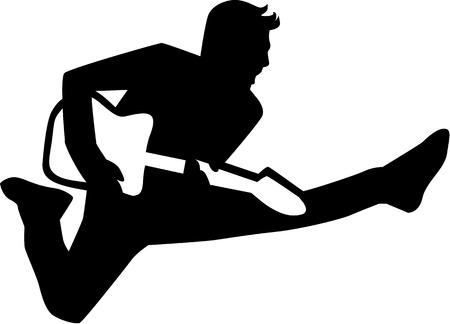 rockstar: Electric guitar player rockstar Illustration