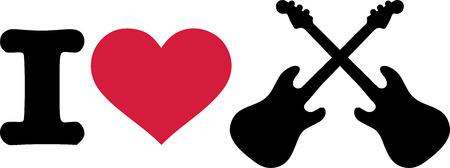 electric guitars: I love electric guitars