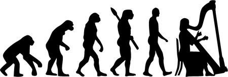 arpa: evolución arpista Vectores