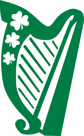 Irish Harp Stock Illustratie