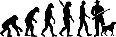 evolucion: Evolución de caza con el perro