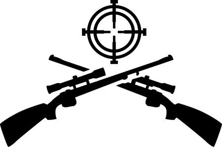 Hunting shotguns with target Stock Vector - 45246233