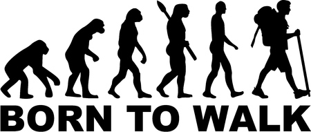 Hiking Born to walk Evolution