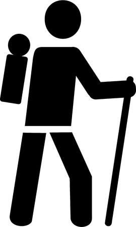 trek: Hiker symbol