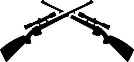 Crossed shotguns