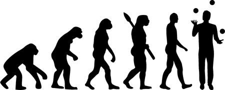 ジャグラーの進化 写真素材 - 45248887