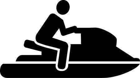 jet ski: Jet ski icon Illustration