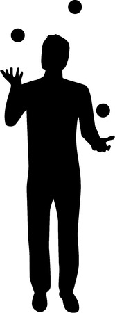 Juggler silhouet