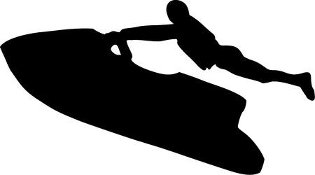 jet ski: Jet extrema conducci�n de esqu�