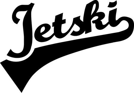moto acuatica: Jet ski texto retro