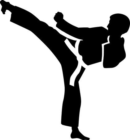 pelea: Patada de karate
