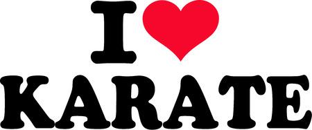 karate fighter: I love karate