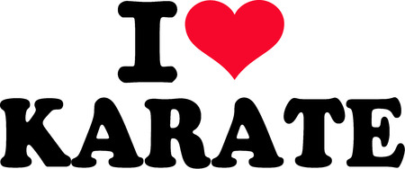 I love karate