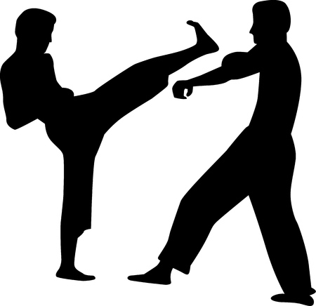karate: Karate couple fighting