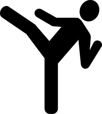 judo: Karate Icon Illustration