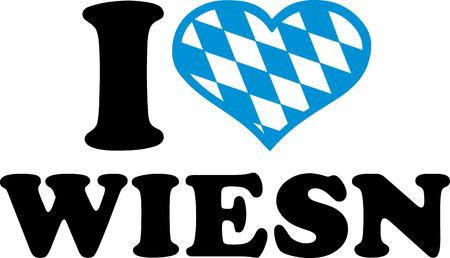 wiesn: I love wiesn bavarian pattern Illustration
