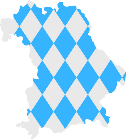 bavaria: Bavaria map with flag pattern