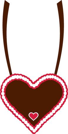 gingerbread heart: Gingerbread heart chain