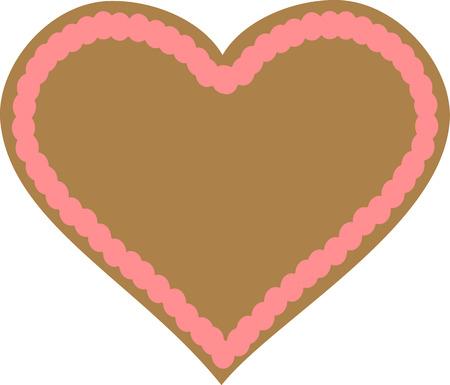 gingerbread heart: Gingerbread heart Illustration