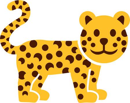 Cartoon leopard gepard