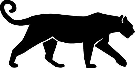 Leopard Silhouette gepard panther Ilustração