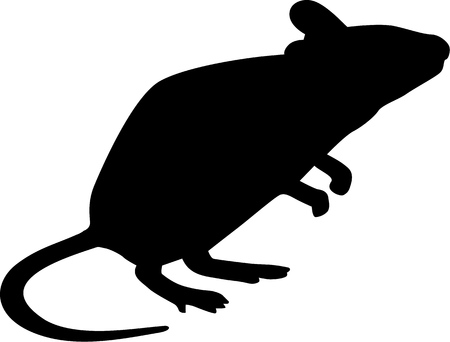 Mouse silhouette standing Vector Illustration