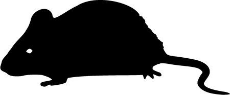 isolated animal: Mouse silhouette Illustration
