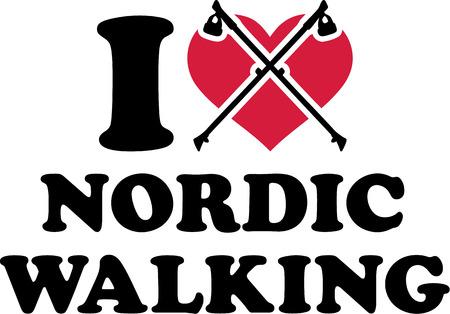 私は心のノルディック ・ ウォーキング